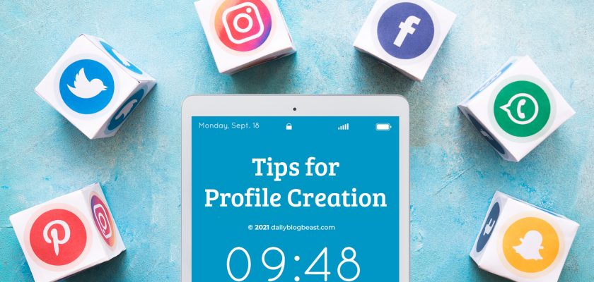 social media profile creation
