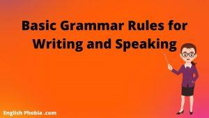 basic grammar rules